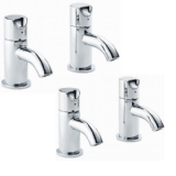 Pegler Slique Quarter Turn  Basin and Bath Pillar Taps